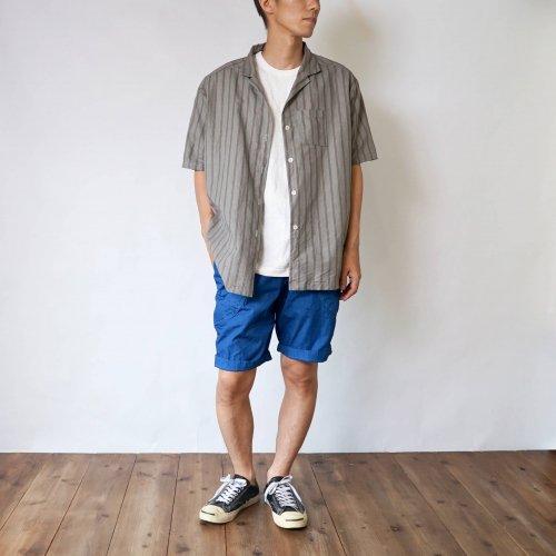 【福袋】カーキストライプシャツ + ハーフパンツ/2カラー