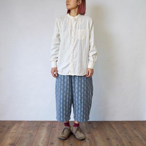 【福袋】ノーカラー ガーゼシャツ/生成り+バルーンパンツ/羽根 2点セット
