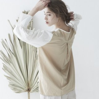 <img class='new_mark_img1' src='https://img.shop-pro.jp/img/new/icons50.gif' style='border:none;display:inline;margin:0px;padding:0px;width:auto;' />bicolor simple sleeve shirts