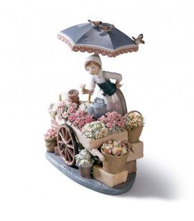 リヤドロ Lladro 【 公園通りの花屋さん 】  01001454 FLOWERS OF THE SEASON