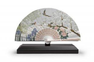 リヤドロ Lladro 【 扇(菖蒲と桜) 】  01001936 IRIS AND CHERRY FLOWERS FAN
