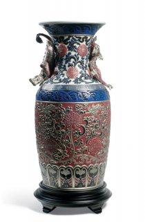 リヤドロ Lladro 【 オリエンタルドラゴン花瓶(赤) 】  01001954 ORIENTAL VASE (RED)