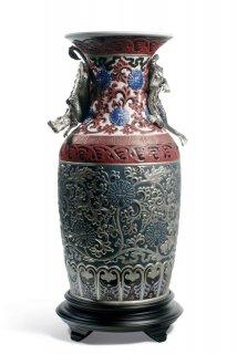 リヤドロ Lladro 【 オリエンタルドラゴン花瓶(青) 】  01001955 ORIENTAL VASE (BLUE)