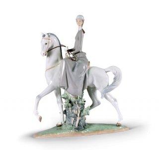 リヤドロ 人形  『白い馬の少女  01004516 WOMAN ON HORSE』