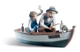 リヤドロ Lladro 【 おじいちゃんと魚釣り 】  01005215 FISHING WITH GRAMPS