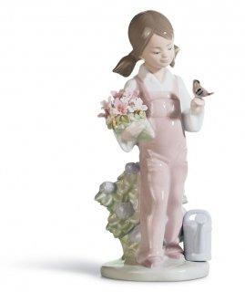 リヤドロ Lladro 【 小鳥と話す少女 】  01005217 SPRING