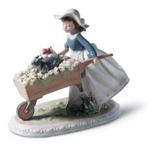 リヤドロ 人形  『乗せてあげる  01005460 A BARROW OF FUN』
