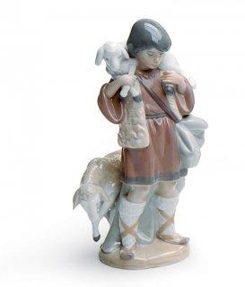 リヤドロ Lladro 【 羊飼い 】  01005485 SHEPHERD BOY