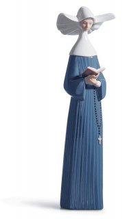 リヤドロ Lladro 【 朝のお祈り 】  01005500 PRAYERFUL MOMENT (BLUE)