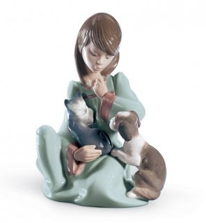 リヤドロ Lladro 【 起こしちゃだめよ 】  01005640 CAT NAP