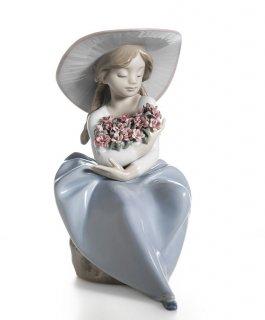 リヤドロ Lladro 【 花の香りにつつまれて 】  01005862 FRAGRANT BOUQUET