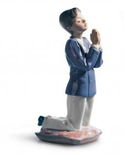 リヤドロ Lladro 【 少年のお祈り 】  01006088 COMMUNION PRAYER (BOY)