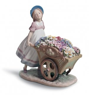 リヤドロ 人形  『かわいいお花屋さん  01006521 LOVE'S TENDER TOKENS』