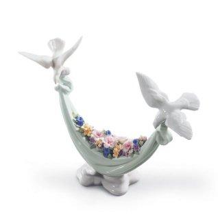 リヤドロ 人形  『平和の花かご  01006579 PETALS OF PEACE』