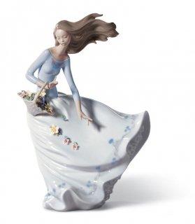 リヤドロ 人形  『風のいたずら  01006767 PETALS ON THE WIND』