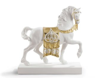 リヤドロ 人形  『威風堂々(Re-Deco/Gold)  01007186 A REGAL STEED (RE-DECO GOLDEN)』