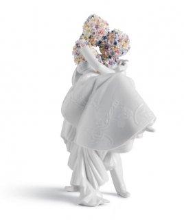 リヤドロ Lladro 【 LOVE<花ひらく> 】  01007232 LOVE II (BLOSSOMS)