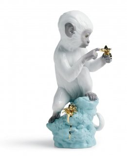 リヤドロ Lladro 【 好奇心(猿) 】  01007238 CURIOSITY - MONKEY ON TURQ. ROCK