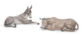 リヤドロ Lladro 【 アニマルボックスセット 】  01007810 SET ANIMALS AT BETHLEHEM (PORCELAIN)