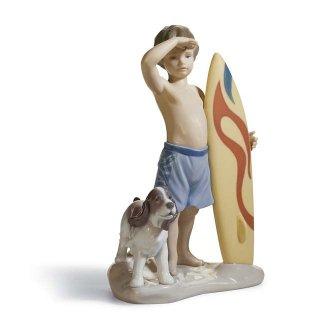 リヤドロ Lladro 【 いい波来るかな? 】  01008110 SURF'S UP