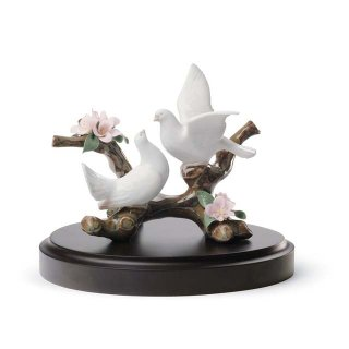 リヤドロ Lladro 【 桜の唱 】  01008422 DOVES ON A CHERRY TREE