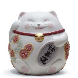 リヤドロ 人形  『招き猫(White)  01008528 MANEKI NEKO I (WHITE)』