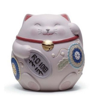 リヤドロ Lladro 【 招き猫(Pink) 】  01008530 MANEKI NEKO III (PINK)