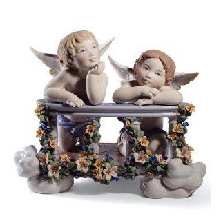 リヤドロ 人形  『天空のバルコニー  01008590 CELESTIAL BALCONY』