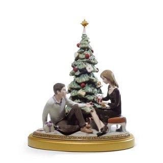リヤドロ Lladro 【 ふたりのクリスマス 】  01008665 A ROMANTIC CHRISTMAS