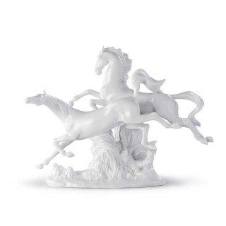 リヤドロ Lladro 【 駆ける馬(White) 】  01008682 HORSES GALLOPING (WHITE)