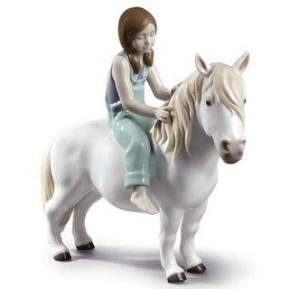 リヤドロ Lladro 【 ポニーと少女 】  01009139 GIRL WITH PONY