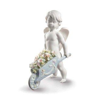 リヤドロ Lladro 【 花車の天使 】  01009193 CELESTIAL FLOWERS