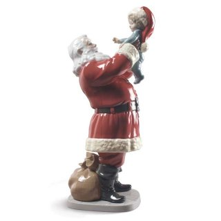 リヤドロ Lladro 【 メリークリスマス サンタさん! 】  01009254 MERRY CHRISTMAS SANTA!
