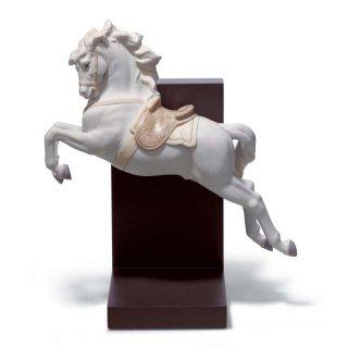 リヤドロ Lladro 【 挑戦 】  01018253  HORSE ON PIROUETTE