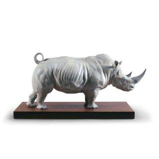 リヤドロ 人形  『シロサイ  01009285 White Rhino Figurine』