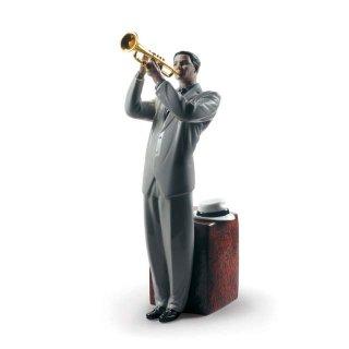 リヤドロ 人形  『ジャズ トランペッター  01009329 Jazz trumpeter』
