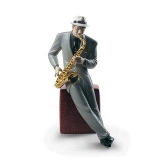 リヤドロ Lladro 【 ジャズ サクソフォニスト 】  01009330 Jazz saxophonist