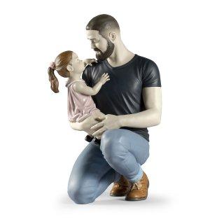 リヤドロ Lladro 【 父の腕の中で 】  01009391 IN DADDY'S ARMS FIGURINE LLADRO
