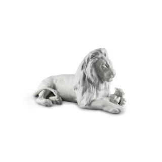 リヤドロ Lladro 【 ライオンの親子 】  01009454 LION WITH CUB FIGURINE
