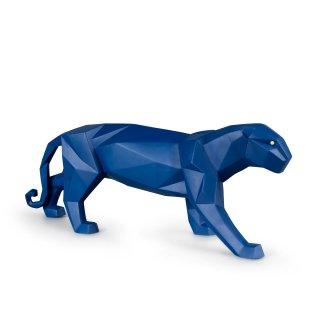 リヤドロ Lladro 【 Origami - パンサー(Blue) 】  01009456 PANTHER FIGURINE. BLUE MATTE