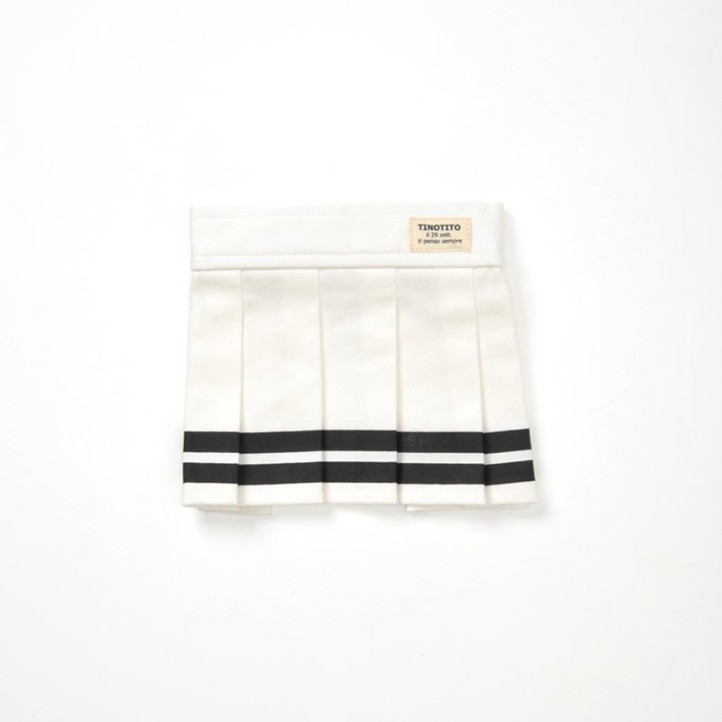 <span>TINOTITO / ティノティート</span><br>ラインプリーツスカート<br><span>オフホワイト / イエロー</span>の画像