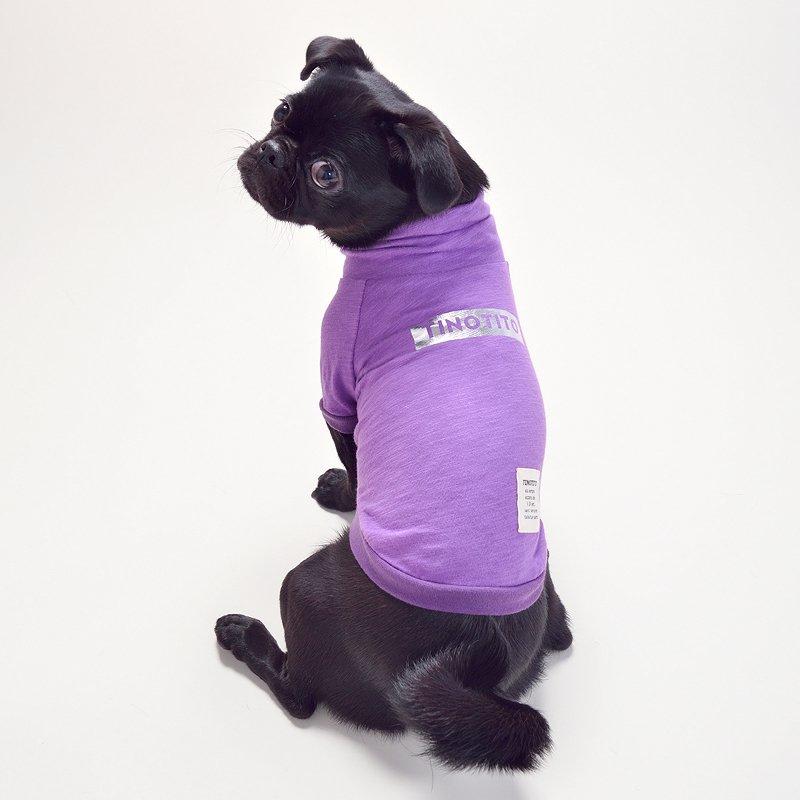 ロゴハイネックトップス(Purple)の画像