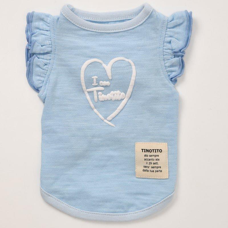 ショルダーフリルTシャツ(Blue)の画像