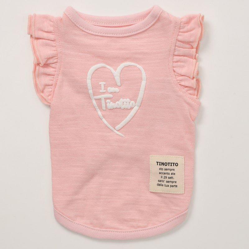 ショルダーフリルTシャツ(Pink)の画像