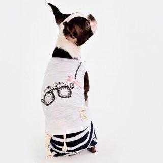 双眼鏡タンクトップ(White)