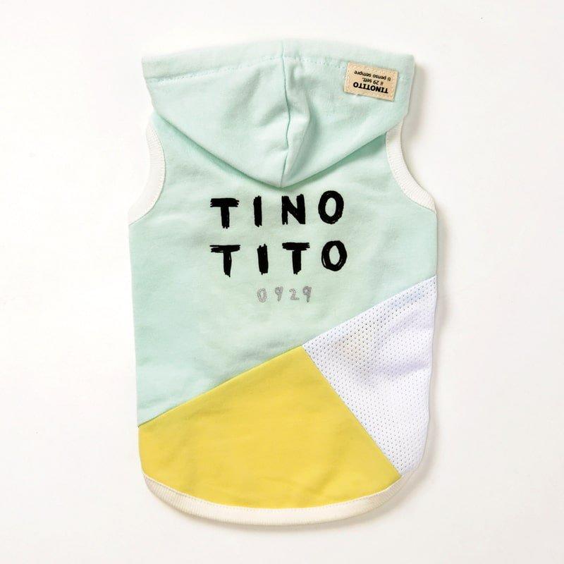 <span>TINOTITO / ティノティート</span><br>バイカラーメッシュパーカ<br><span>ピンク / ミント</span>の画像