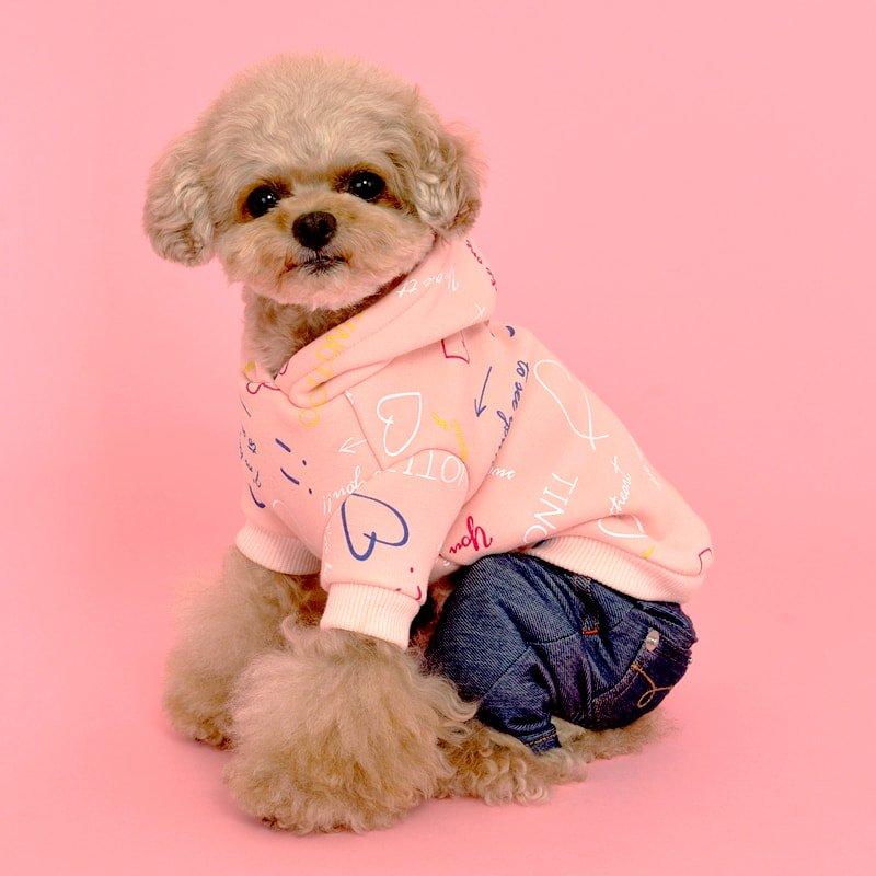 TT英字柄パーカ(Pink)の画像