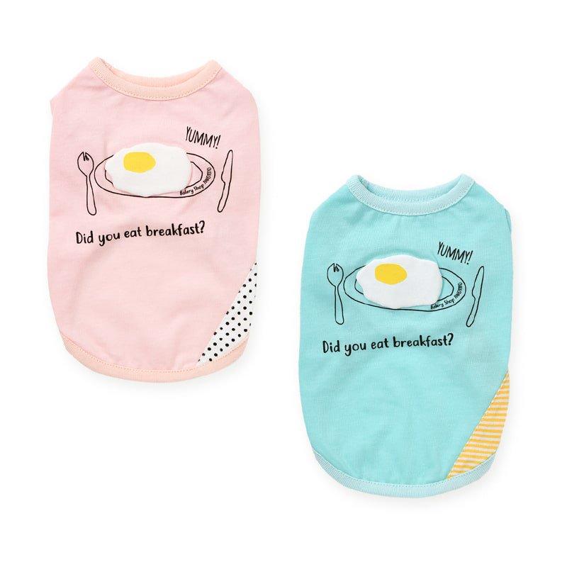 TINOTITO(ティノティート)立体目玉焼きTシャツ<br><span>ピンク/ブルー</span>の画像