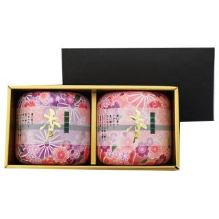 なつめ茶缶 上煎茶ギフト 70g×2 (桃*紫)