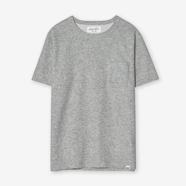 <span>Cotton & Silk Crew-neck T-shirts / Grey</span>コットン&シルク クルーネックTシャツ / グレー
